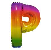 Folat Folieballon Letter P Yummy Gummy Rainbow 34 Inch / 86 Cm