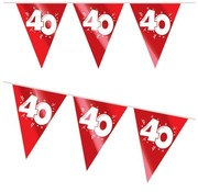 Haza Original Vlaggenlijn 40 rood/wit 4 meter