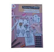 """Colouring & Craft book """"Tulip"""""""