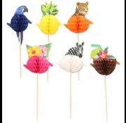 Cocktail Prikkers Honeycomb Strandfeest 24 stuks
