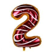 Joni's Winkel Folieballon Cijfer 2 Cookie 34 Inch / 86 Cm