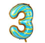 Joni's Winkel Folieballon Cijfer 3 Cookie 34 Inch / 86 Cm