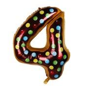 Joni's Winkel Folieballon Cijfer 4 Cookie 34 Inch / 86 Cm