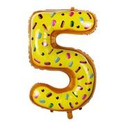 Joni's Winkel Folieballon Cijfer 5 Cookie 34 Inch / 86 Cm