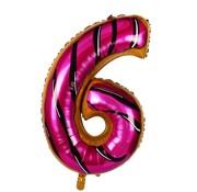 Joni's Winkel Folieballon Cijfer 6 Cookie 34 Inch / 86 Cm