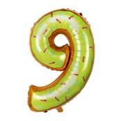 Joni's Winkel Folieballon Cijfer 9 Cookie 34 Inch / 86 Cm