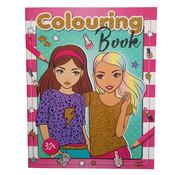 """Emoji Fashion kleurboek """"Roze"""" +/- 32 Kleurplaten"""