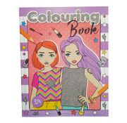 """Emoji Fashion kleurboek """"Lila"""" +/- 32 Kleurplaten"""