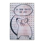 """Postkaart Hout """"Trots op jou"""""""