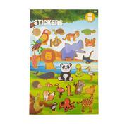 "Stickerboek met glitters ""Jungle Dieren"""