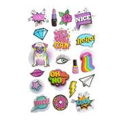"Stickers Puffy ""Girlz"" +/- 19 Stickers"