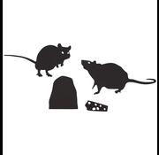 """Halloween muurstickers """"Ratten"""" 12 stuks"""