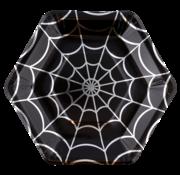 """Halloween papieren borden """"Zilver"""""""