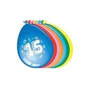 Comedia Ballonnen 15 jaar 8 stuks 30 cm