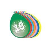 Comedia Ballonnen 18 jaar 8 stuks 30 cm