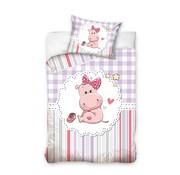 Baby Dekbedovertrek Hippo Roze 100x135 cm