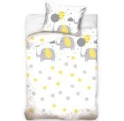 Baby Dekbedovertrek Olifant geel 100x135 cm