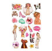 """Stickers Puffy """"Style"""" +/- 19 Stickers"""