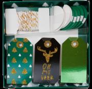 """Joni's Winkel Kerst cadeaulabels """"Groen"""""""