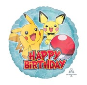 Anagram Standard Shape Folieballon Pokemon Happy Birthday 43 x 43 cm
