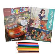 Disney Disney's Pixar Kleurboek +/- 120 kleurplaten + Stickers + Kleurboek +/- 16 kleurplaten + Kleurpotloden