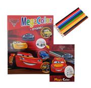 Disney Disney's Cars 3 Kleurboek +/- 120 kleurplaten + Stickers + Toverblok + Kleurpotloden