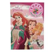 "Disney Kerst Super Sticker & Color Kleurboek ""Princess"""