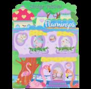 """Joni's Winkel Sticker festival - Stickerboek """"Flamingo Paars"""""""