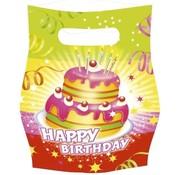 Feestzakjes Happy Birthday 6 Stuks