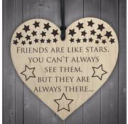 """Joni's Winkel Houten hanger 10x10 cm """"Like stars"""""""