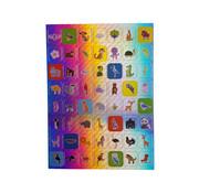 "Joni's Winkel Holografische Stickers 112 stuks ""Animals"""