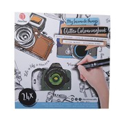 """Glitter kleurboek """"My favorite things"""""""