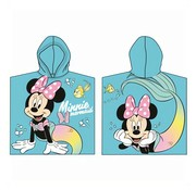 Badponcho Minnie Mouse Mermaid ( Blauw )