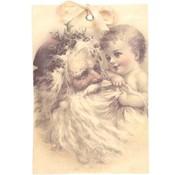 Geurzakje kerstman kind (kaneel) 17x11,5cm