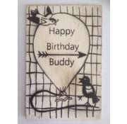 Postkaart Happy Birthday Buddy