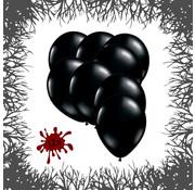 Joni's Halloween Shop Premium Ballonnen Midnight Black 12 stuks 30 cm