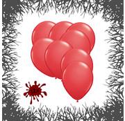 Joni's Halloween Shop Premium Ballonnen Blood Red 12 stuks 30 cm