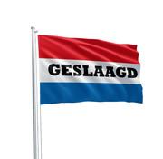 """Gevelvlag Nederlandse vlag """"Geslaagd""""  90x150 cm"""