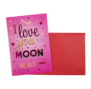 "Belgian Greetings Valentijnskaart ""To the moon and back"" 18,5 x 26,5 cm"