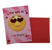"""Belgian Greetings Valentijnskaart """"You make me very happy"""" 18,5 x 26,5 cm"""
