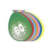 Comedia Ballonnen 60 jaar 8 stuks 30 cm