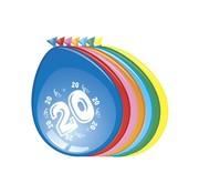 Comedia Ballonnen 20 jaar 8 stuks 30 cm