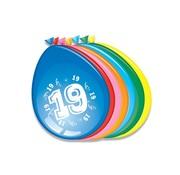 Comedia Ballonnen 19 jaar 8 stuks 30 cm