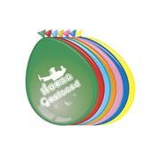 Comedia Ballonnen 'Geslaagd' 8 stuks 30 cm