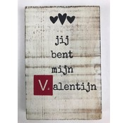 CottonCounts Tekstblok 10x15 2 cm dik Valentijn red