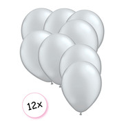 Joni's Winkel Premium Quality Ballonnen Zilver 12 stuks 30 cm