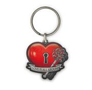 "Miko Luxe sleutelhanger ""Love is all around"""