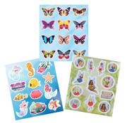 """Henbrandt Ltd Uitdeelcadeautjes Sticker vellen 8x 3 stuks """"Fantasy"""""""
