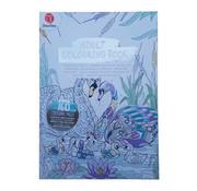 """Decotime Kleurboek voor volwassenen 160 Pagina's """"Zwaan"""""""
