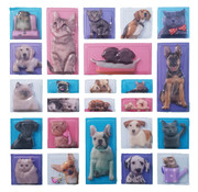 """3D stickervel """"Honden & Katten"""" +/- 25 stuks"""